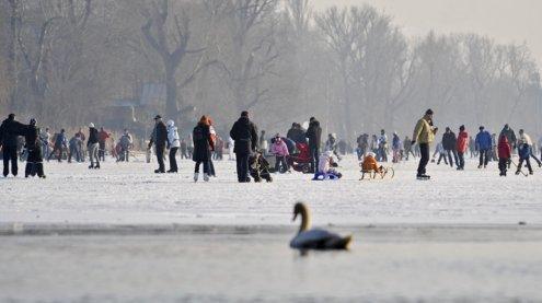 Das Eislaufen auf der Alten und Neuen Donau ist lebensgefährlich
