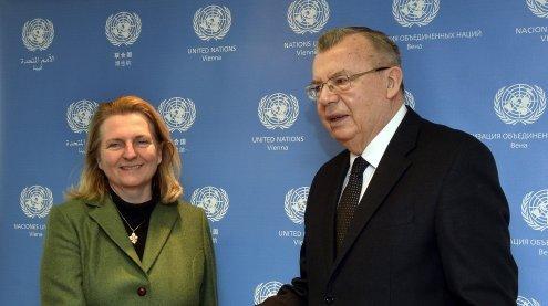 Wien: Karin Kneissl traf UNOV-Generaldirektor Yuri Fedotov
