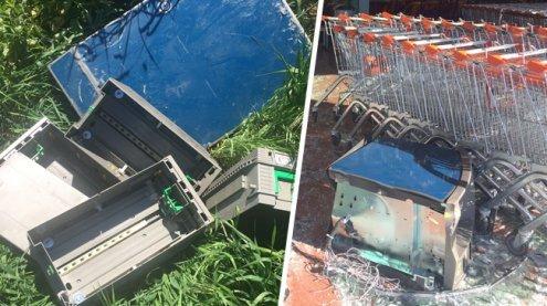 Bankomat mit Kastenwagen aus Supermarkt gerissen: Festnahme