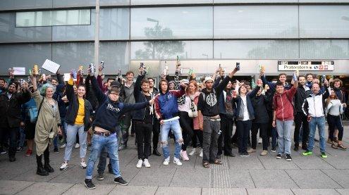 'Letzter Tag Saufen': Demo gegen Alkoholverbot am Praterstern