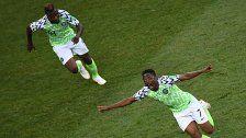 Nigeria feierte 2:0-Sieg gegen die Isländer